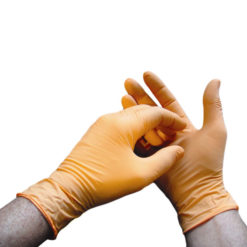 Orange-Nitrile-Exam-Gloves