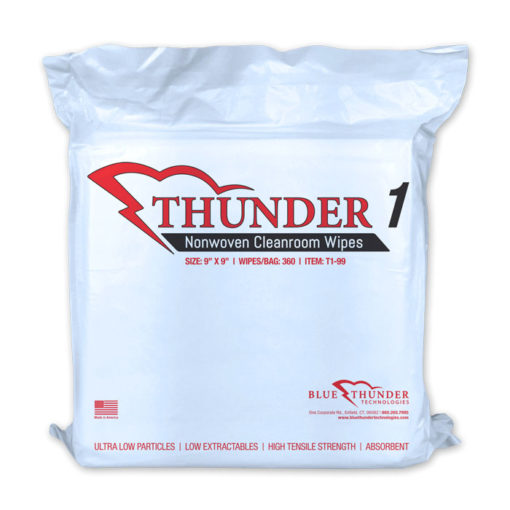 Thunder 1 Nonwoven Class 100-1000 Cleanroom Wipes