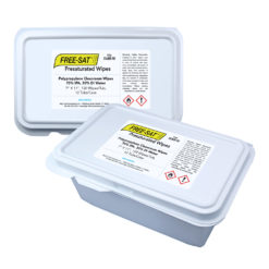 "FREE-SAT™ 7"" x 11"" Polypropylene Presaturated Wipes, 70% IPA / 30% DI Water"