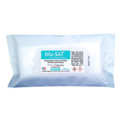 "blu-SAT™ 70% IPA Presaturated Polypropylene Wipes, 9"" x 11"" - BS-TP-911"